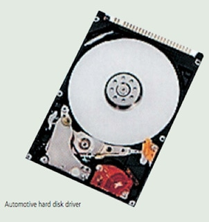 Automotive hard disk driver