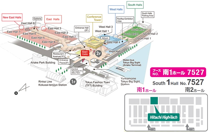 Floor layout of Tokyo Big Sight