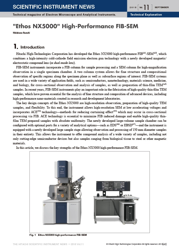 """Ethos NX5000"" High-Performance FIB-SEM"