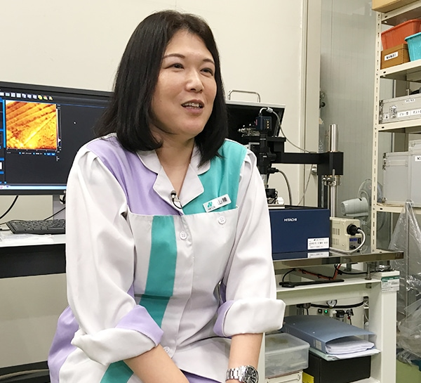Ryoko YAMAKOSHI (Nicca Chemical Co., Ltd. Corporate Research Center Corporate Invention Research Department Deputy Chief, Analytical Laboratories)
