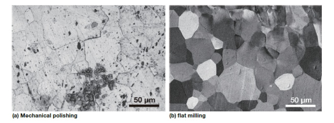 Fig. 4 Example of flat milling of steel material