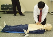 Photo: First aid course at head office